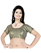 Khoobee Presenting Festive Special Art Silk Jacquard Stitched Blouse.(Beige,Brown)