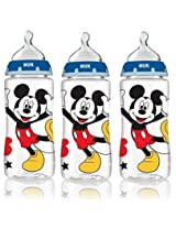 NUK Disney Orthodontic Medium Flow Bottle-3 Pack (Mickey Mouse)