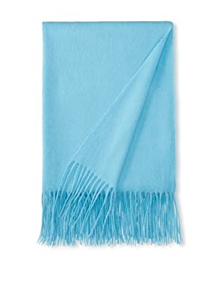 a & R Cashmere Wool & Cashmere Waterweave Throw, Tiffany, 50