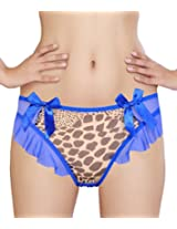 Glus Bables Frill Thong ,Size-Medium (Blue)