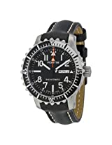 Fortis Marinemaster Automatic Black Dial Black Leather Men'sWatch (670.17.41 L01)