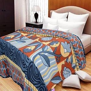 Decorvilla Multi Color Double Bed Winter Blanket
