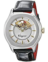 Salvatore Ferragamo Mens FQ1020013 Lungarno Analog Display Automatic Self Wind Black Watch