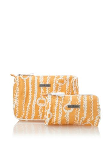 Julie Brown Set of 2 Cosmetic Bags (Orange Chains)