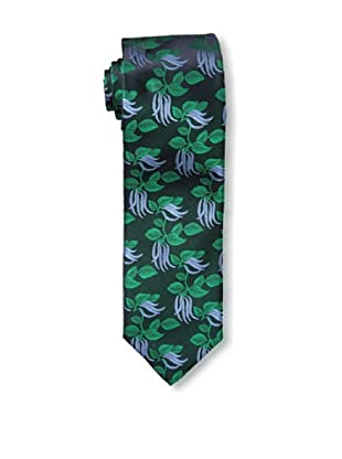 Massimo Bizzocchi Men's Floral Tie, Navy/Green