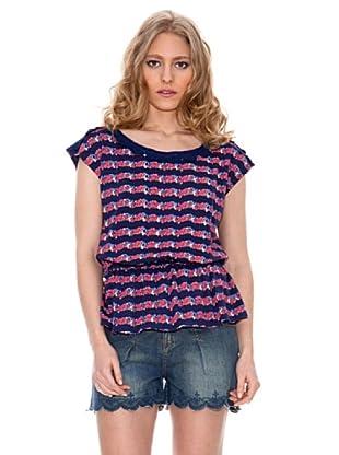 Springfield Camiseta Rayas Lazo (Azul)