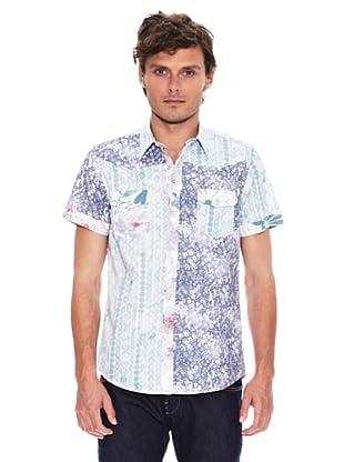 Desigual Camisa Ocean (Blanco / Azul)