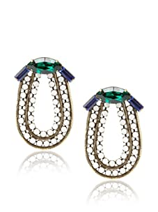 Lionette Designs by Noa Sade Emerald and Blue Kennedy Bow Earrings