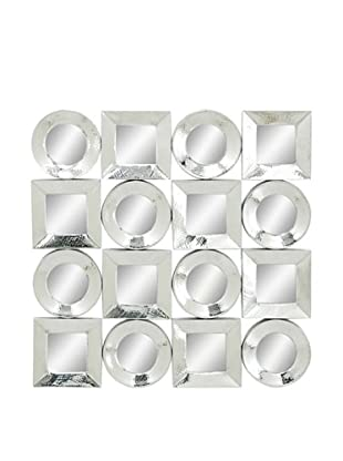 Mirrored Circle and Square Wall Décor