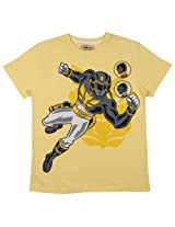 Bio world Boys' Round Neck Power rangers Tween Cotton Half Sleeve T-Shirt Black [8903346241880] -(13-14 years )