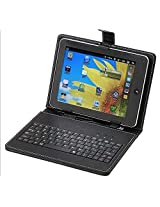 ECellStreet PU LEATHER Keyboard FLIP CASE COVER FOR Samsung Galaxy Tab 2 7.0 P3100 7 INCH TABLET STAND COVER HOLDER With Stylus - Black