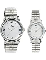 Titan Bandhan Analog Watch - For Couple Silver - 15802490SM01