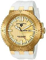 Swiss Legend Men's 10126-YG-010-WHT Challenger Gold Textured Dial White Silicone Watch