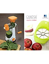 Ganesh Juicer with steel handle and GANESH APPLE CUTTER