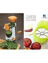 Ganesh Plastic Juicer Set, 2-Pieces, White