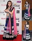 Alia Bhatt Blue Pink Bollywood Replica Lehenga 5006B By Lime Fashion