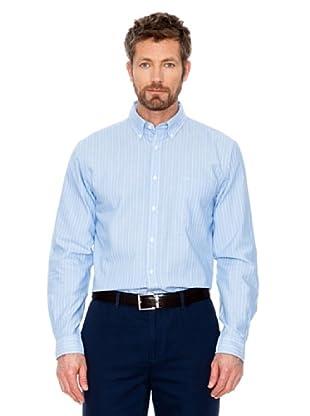 Cortefiel Hemd Oxford (Blau)