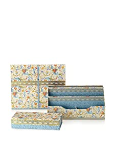 Punch Studio Desk Set: Expanding File, Desk Caddy Organizer, and Pencil Box (Florentine)