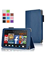 Fire HD 6 Case - Exact Amazon Kindle Fire HD 6 Case [PRO Series] - Premium PU Leather Folio Case for Amazon Kindle Fire HD 6 (2014) Navy Blue