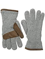 Jack Spade Men's Knit Ski Gloves, Grey, One Size
