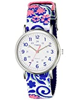 Timex Weekender Reversible Floral Analog Blue Dial Women's Watch - TW2P90200AA