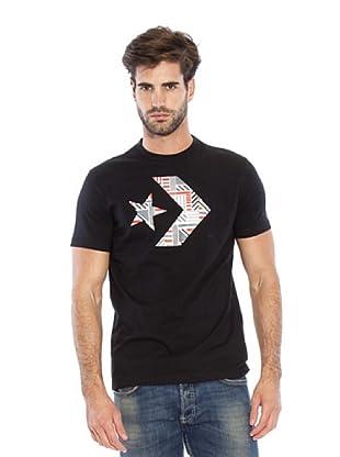 Converse Camiseta Randel (Negro / Gris / Coral)