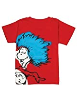 Bumkins Dr. Seuss Short Sleeve Toddler Tee, Red Thing 2, 4 T By Bumkins