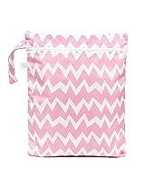 Bumkins Wet Dry Bag, Pink Chevron