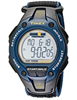 "Timex Men's T5K413 ""Ironman Traditional"" Watch with Black and Blue Nylon Band"