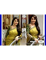 Bollywood Replica Madhuri Dixit Bhagalpuri And Dhupion Saree In Green Colour Nc 576