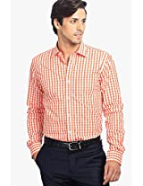 Checks Orange Casual Shirt Genesis