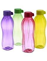 Tupperware Aquasafe Water Bottle Set, 500ml, Set of 4 (0.5L)