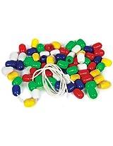 Skillofun Plastic And Wooden Beads - Oval