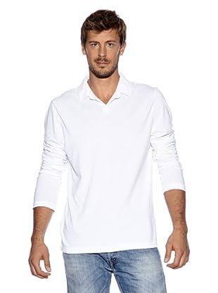 James Perse Langarm Polo (Weiß)