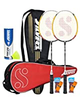 Silver's Reflex Badminton Kit Combo 2 with Yellow Nylon Shuttlecock