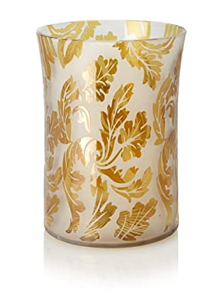 Tozai Frosted Floral Vase, Amber
