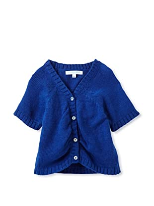 Elephantito Girl's 2-8 Short Sleeve Sweater (Blueberry)