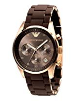 Emporio Armani Men's AR5891 Sport Rose Gold Ion-Plating Brown Chronograph Dial Watch