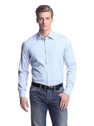 Façonnable Men's Slim Fit Stretch Sportshirt (Blue)