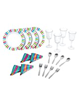 My First Kenmore 20 Piece Dinnerware Set By Playgo Plates Play Girls Toys Kitchen 4 Sets Of Tin Plate, Spoons, Forks, Glasses, And Napkins