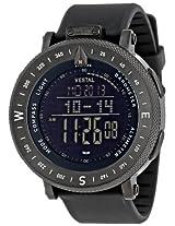 """Vestal Men's GDEDP02 """"The Guide"""" Black Stainless Steel Digital Watch"""