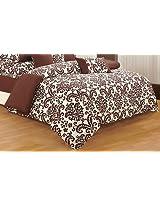 Swayam Printed Cotton Double Comforter - Choco
