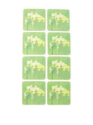 rockflowerpaper Set of 8 Orchid Coasters