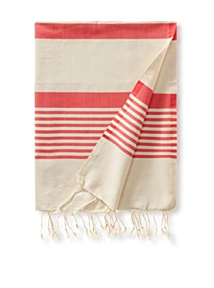 Fouta Bath Towel, Honey Striped Pink
