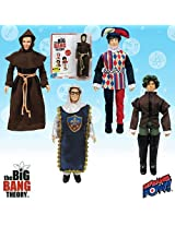 2014 Sdcc Exclusive Big Bang Theory Costumes 8 Inch Figures Set Of 4 Renaissance Fair Figures