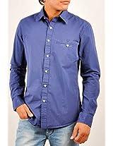Allen Solly Blue Plain Men Casual Shirt ALSF513C04137