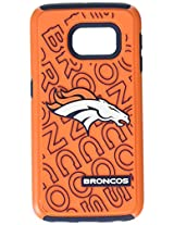 Forever Collectibles - Licensed NFL Cell Phone Case for Samsung Galaxy S6 Edge - Retail Packaging - Denver Broncos