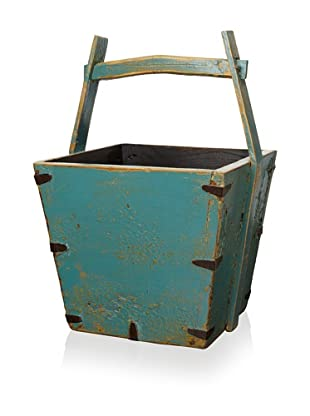 Royola Pacific Square Wooden Bucket (Peacock Teal)