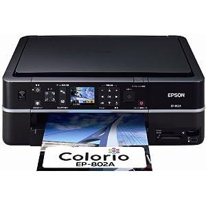 EPSON MultiPhoto Colorio 有線・無線LAN標準搭載 フォト複合機 6色染料インク EP-802A