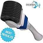 Derma Roller 0.5 or 1.0 - #1 Safest Dermaroller System ★ 360º Rotating Head ★ Free Travel Case, Soaking Cup & Guide. Advanced Micro Needle Treatment for Home Use (Safer Than 1.5 , 2.0 Mm) with Easy-glide, 600 Tiny Microneedle Disc Technology and Replaceable Micro-needle Heads - Use for Stretch Marks, Eyes, Face, Cellulite, Acne, Body, Hair Loss, Scar Removal and Beauty Enhancement - SEE Results in 10 Sessions or Your Money Back !
